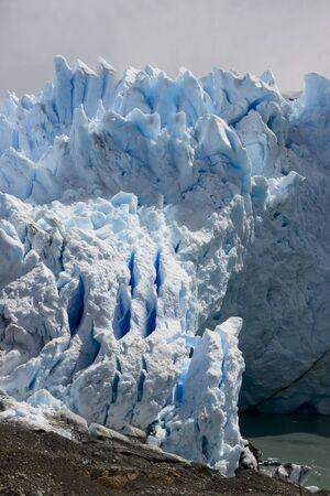Perito Moreno Glacier which has amazing color - it is really blue Stock Photo