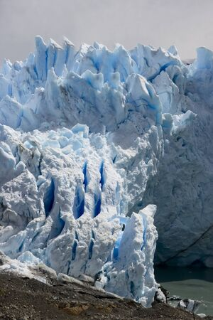 Perito Moreno Glacier which has amazing color - it is really blue Stock Photo