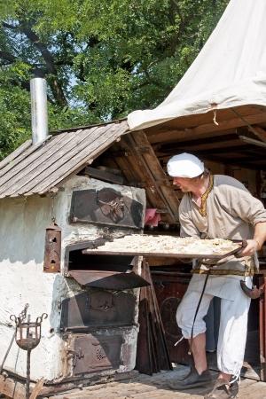 medieval baker - picnic medieval fairground