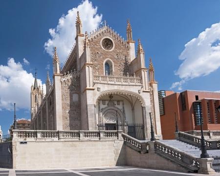Church located near Prado Gallery in Madrid