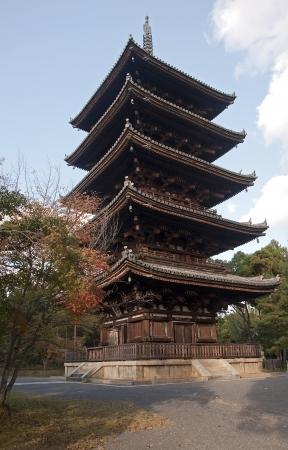 The historic Toji Pagoda  in Kyoto