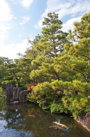 Beautiful big Japanese Garden in Himeji - Japan photo