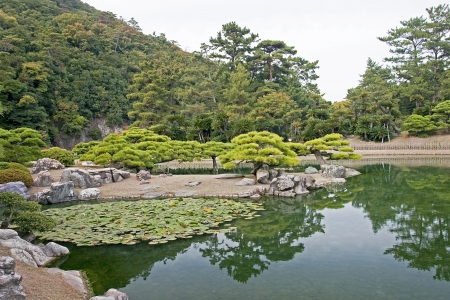 Japanese Garden in Takamatsu - Japan photo