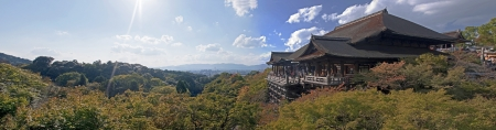 Kiyomizu Temple in Kyoto, Japan  View in autumn
