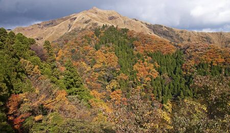 Views in the area of Aso - Japan - autumn view Stock Photo - 17247590