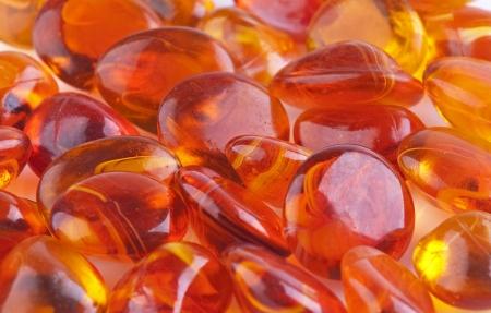 Amber decorartin background Stock Photo