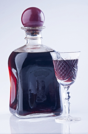 Liquor homemade blackcurrant - perfect for cold winter nights photo