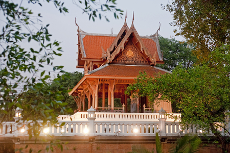 Temple in the park near Fort Phra Sumeru in old Bangkok - Thailand