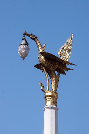 Decorative lamp in the royal palace in Bangkok - Thailand photo