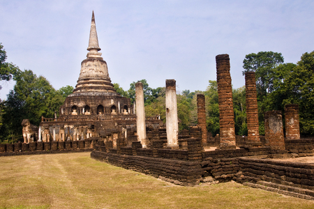 Temple Historical Park in Si Satchanalai - Chaliang  Thailand  photo