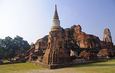 View of the ruins of Wat Mahathat - Thailand photo