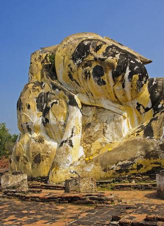 Buddha head in Wat Lokayasutharam - Ayutthaya, Thailand