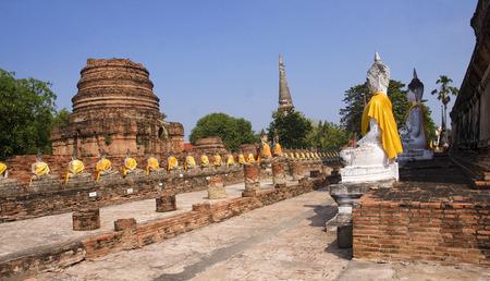 Buddha statues at Wat Yai Chai Mongkol in Ayutthaya - Thailand