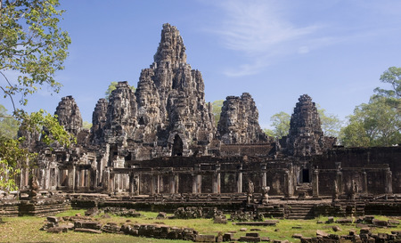 Bayon temple in center Angkor Wat - Cambodgia photo