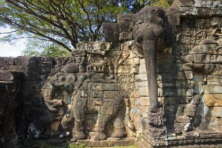 Elephant Terrace in Angkor Thom - Cambodia