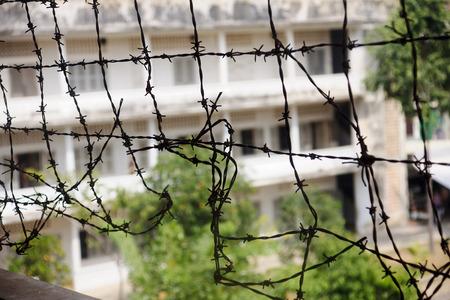 Tuol Sleng  S21  Prison in Phnom Penh - Cambodia Stock Photo
