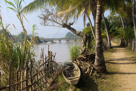 The road around the island of Don Det - Laos photo