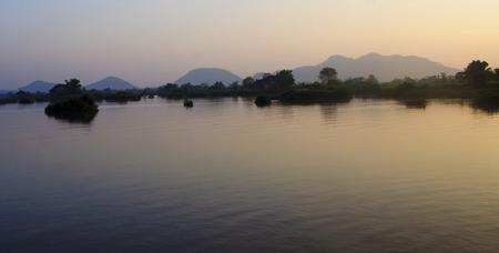 det: View of the Mekong River at sunset - Don Det  Laos