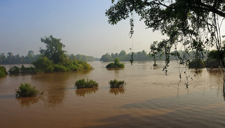 det: View of the Mekong in Don Det - Laos