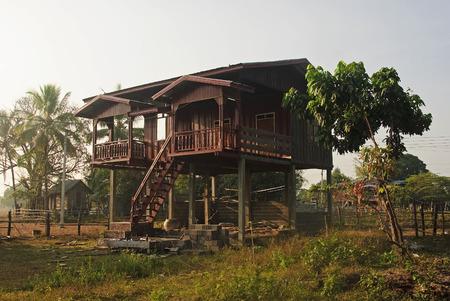 det: House on stilts in Don Det - Laos