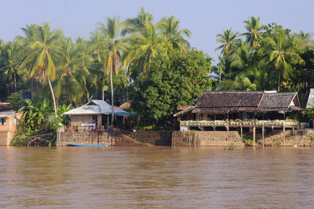 khon: Restaurant on the River Mekong in Don Khon - Laos