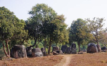 Plain of Jars, Phonsavan  - Laos Stock Photo