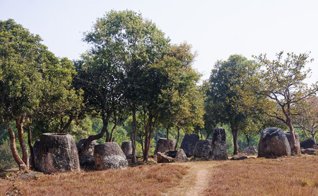 Plain of Jars, Phonsavan  - Laos Stock Photo