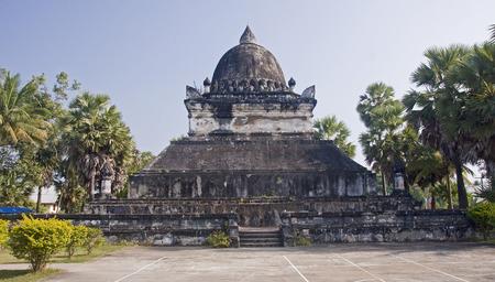 future buddha: Wat Visoun Stupa in Luang Prabang - Laos Stock Photo