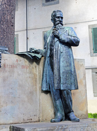 Ulisse dini - a monument to the italian mathematician in pisa - italy