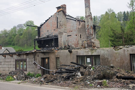 cremated: House ruin after big fire