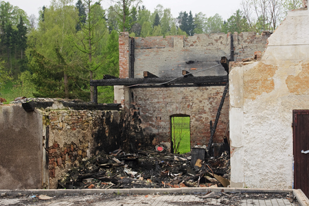 House ruin after big fire photo