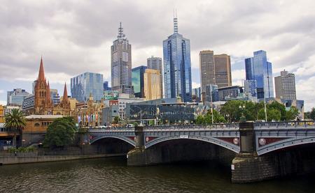 MELBOURNE, AUSTRALIA - DECEMBER 30, 2014:  St Paul s Anglican cathedral in Melbourne on 30 December 2014 in Melbourne, Australia. St Paul Editöryel