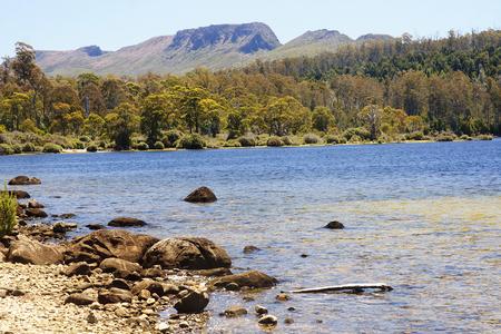 bushwalk: View of Cradle Mountain  and Lake St. Clair  in Tasmania (Australia)