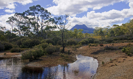 clair: View of Cradle Mountain  and Lake St. Clair  in Tasmania (Australia)