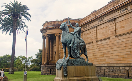 SYDNEY, AUSTRALIA  - DECEMBER 2014: Art Gallery of New South Wales on December 2014 in Sydney, Australia. Art Gallery of New South Wales is one of the attractions of Sydney are frequently visited by tourists