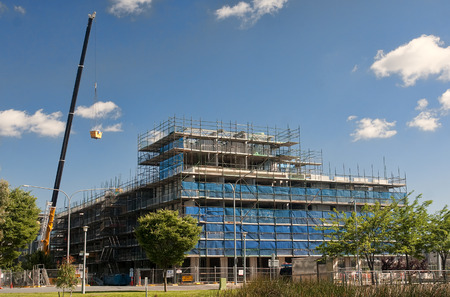 Canberra: New building under construction in Canberra, Australia