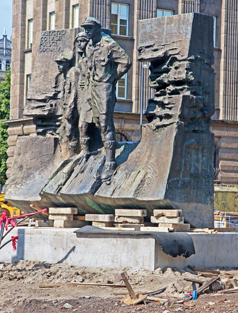 scouts: Scouts fighting monument in the center Silesian Katowice Poland