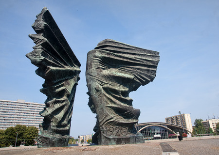Silesian Insurgents Monument is located in the center Katowice of the great square o Editorial