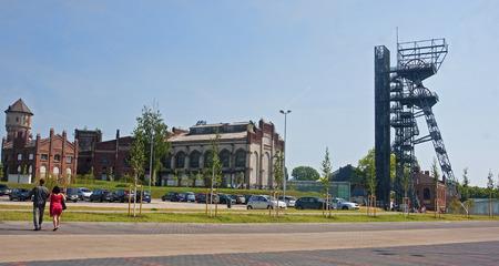 KATOWICE, POLAND - JULY 19, 2015 The new Silesian Museum on 19 July 2015 in Katowice, Poland. The Silesian Museum is the largest regional museum in Katowice Publikacyjne