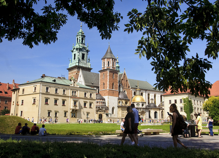 almost all: KRAKOW, POLAND - AUGUST 1, 2015: Wawel Cathedral on 1 August 2015 in Krakow, Poland. Wawel cathedral was the coronation of almost all Polish kings