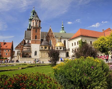 coronation: KRAKOW, POLAND - AUGUST 1, 2015: Wawel Cathedral on 1 August 2015 in Krakow, Poland. Wawel cathedral was the coronation of almost all Polish kings