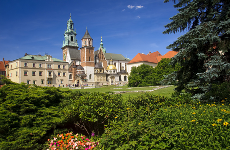 almost all: Wawel Cathedral in Krakow, Poland. Wawel cathedral was the coronation of almost all Polish kings Editorial