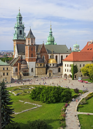coronation: Wawel Cathedral in Krakow, Poland. Wawel cathedral was the coronation of almost all Polish kings Editorial