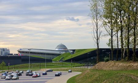 Sports hall Spodek in the city center Katowice, Poland Stock Photo