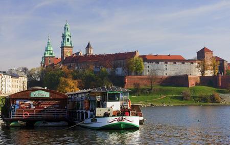 2 november: KRAKOW, POLAND - NOVEMBER 2, 2015: Wawel Castle 2 November 2015 in Krakow, Poland. Wawel Castle  It was home to the majority of Polish kings.