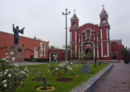 virgin girl: The church of St. Rose of Lima, Peru