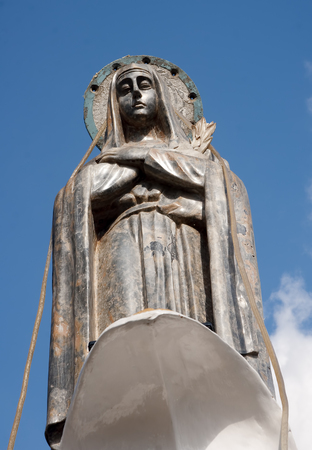 loja: Monument towering over the city - the Virgin of Loja, Ecuador