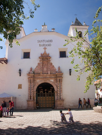 mariano: CUENCA, ECUADOR - NOVEMBER 27, 2015: Santuario Mariano on 27 November 2015 in Cuenca, Ecuador. One of the ancient churches of the city