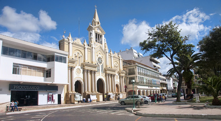 loja: LOJA, ECUADOR - NOVEMBER 29, 2015: Cathedral of Loja on 29 November 2015 in Loja, Ecuador. The historic cathedral is located on the main square in the city center