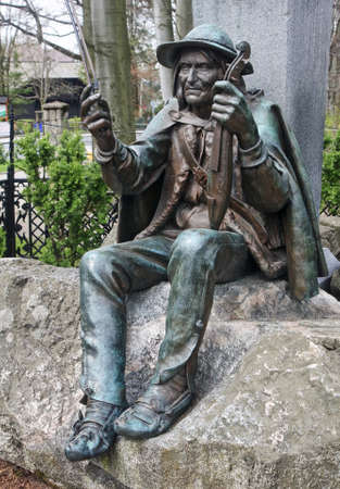 zakopane: Famous monument to Sabala and Chalbinski in Zakopane (Poland)